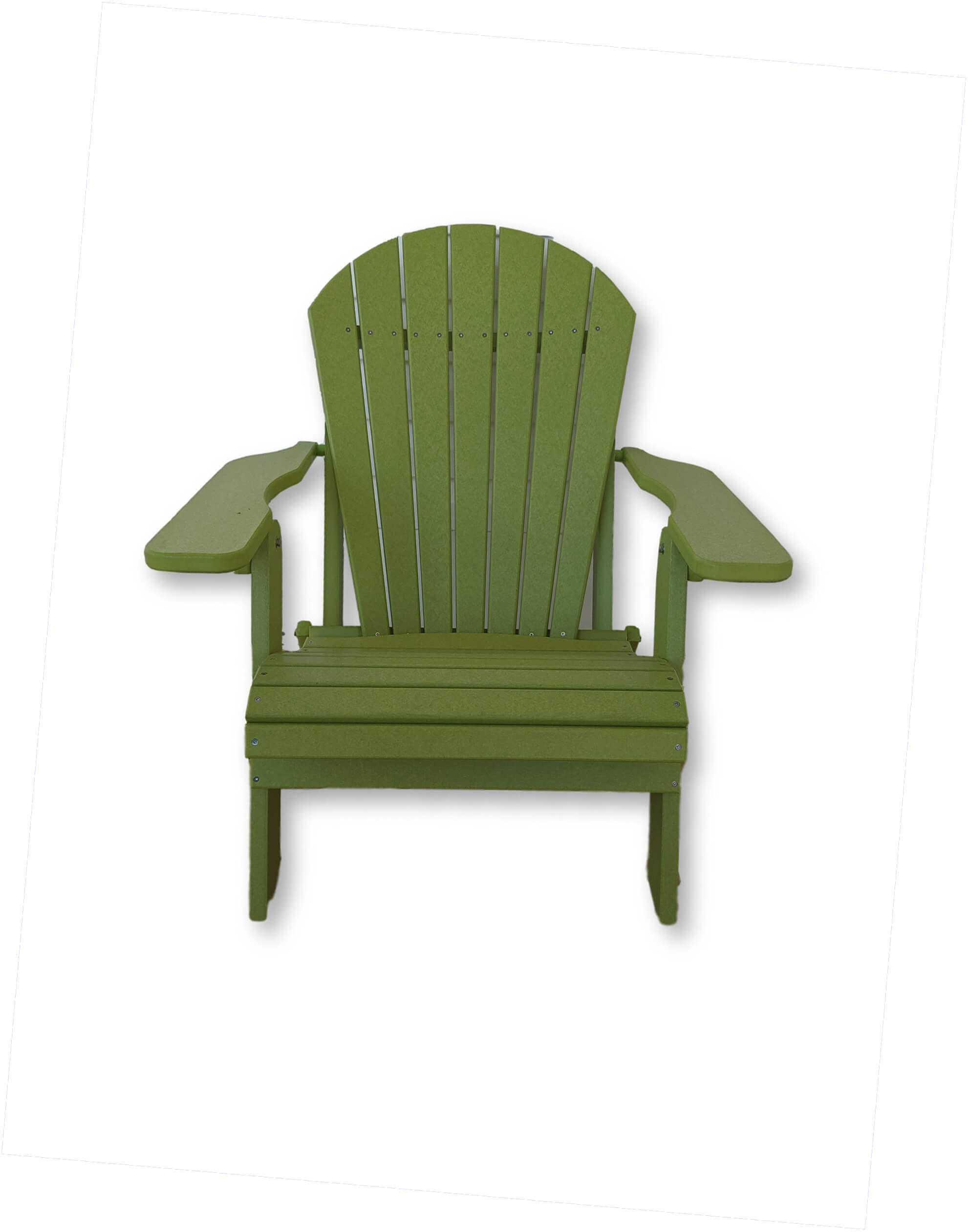 Lime Green Folding Adirondack Chair(No Cup Holders)