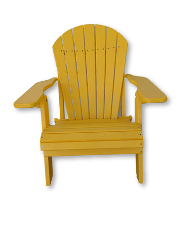 Yellow Folding Adirondack Chair(No Cup Holders)