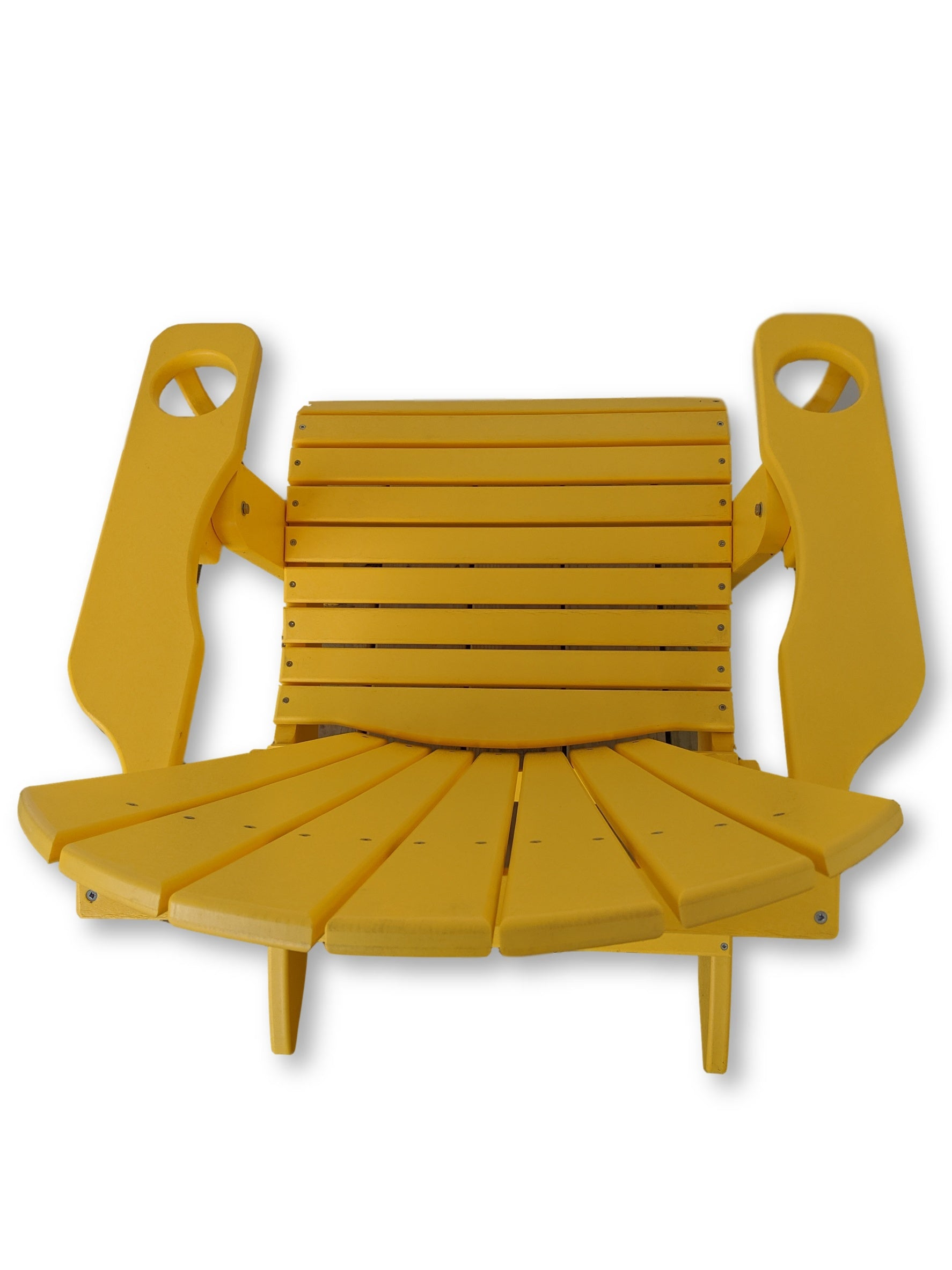Yellow Folding Adirondack Chair with Cup Holders