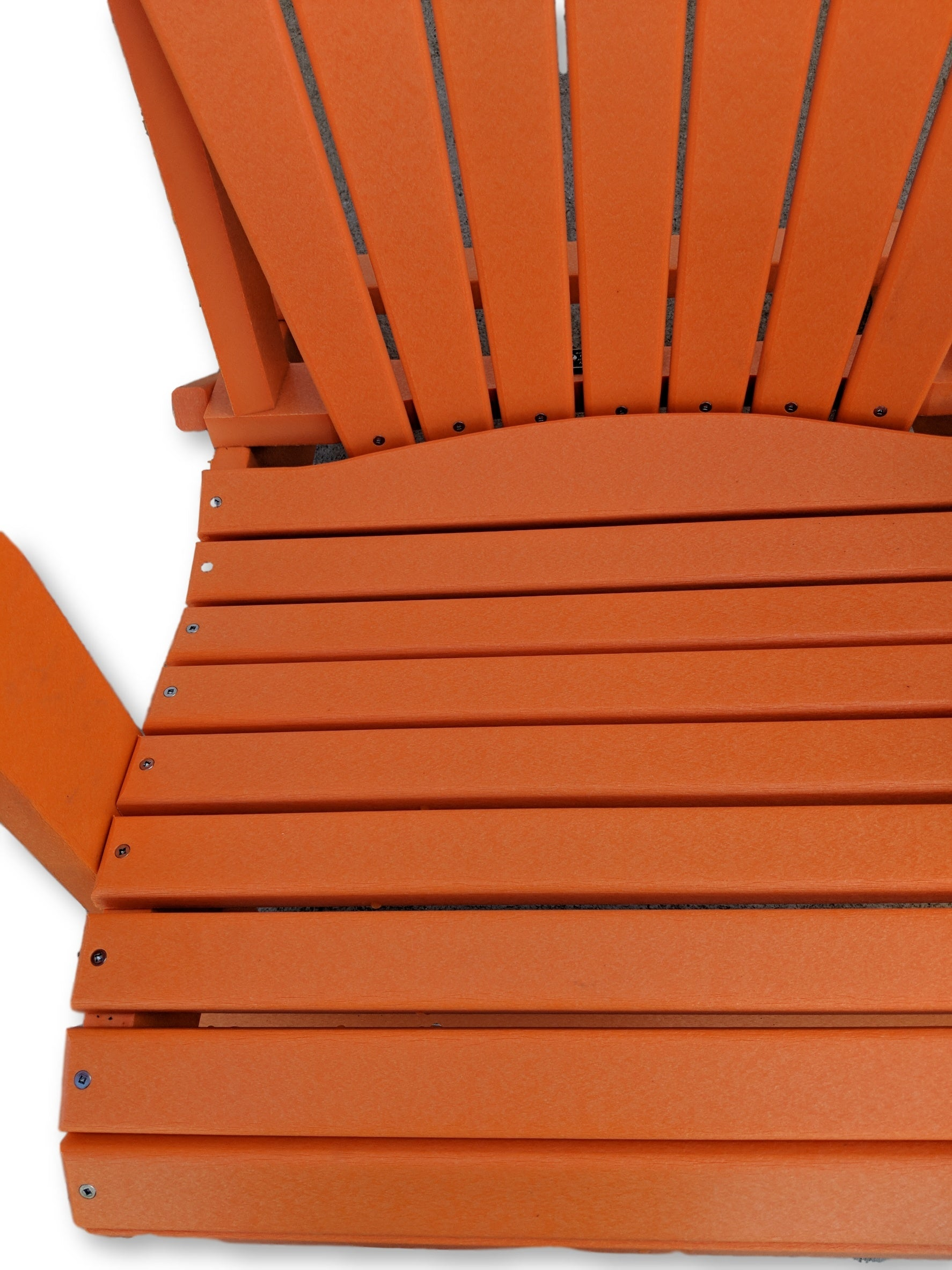Orange Folding Adirondack Chair with Cup Holders