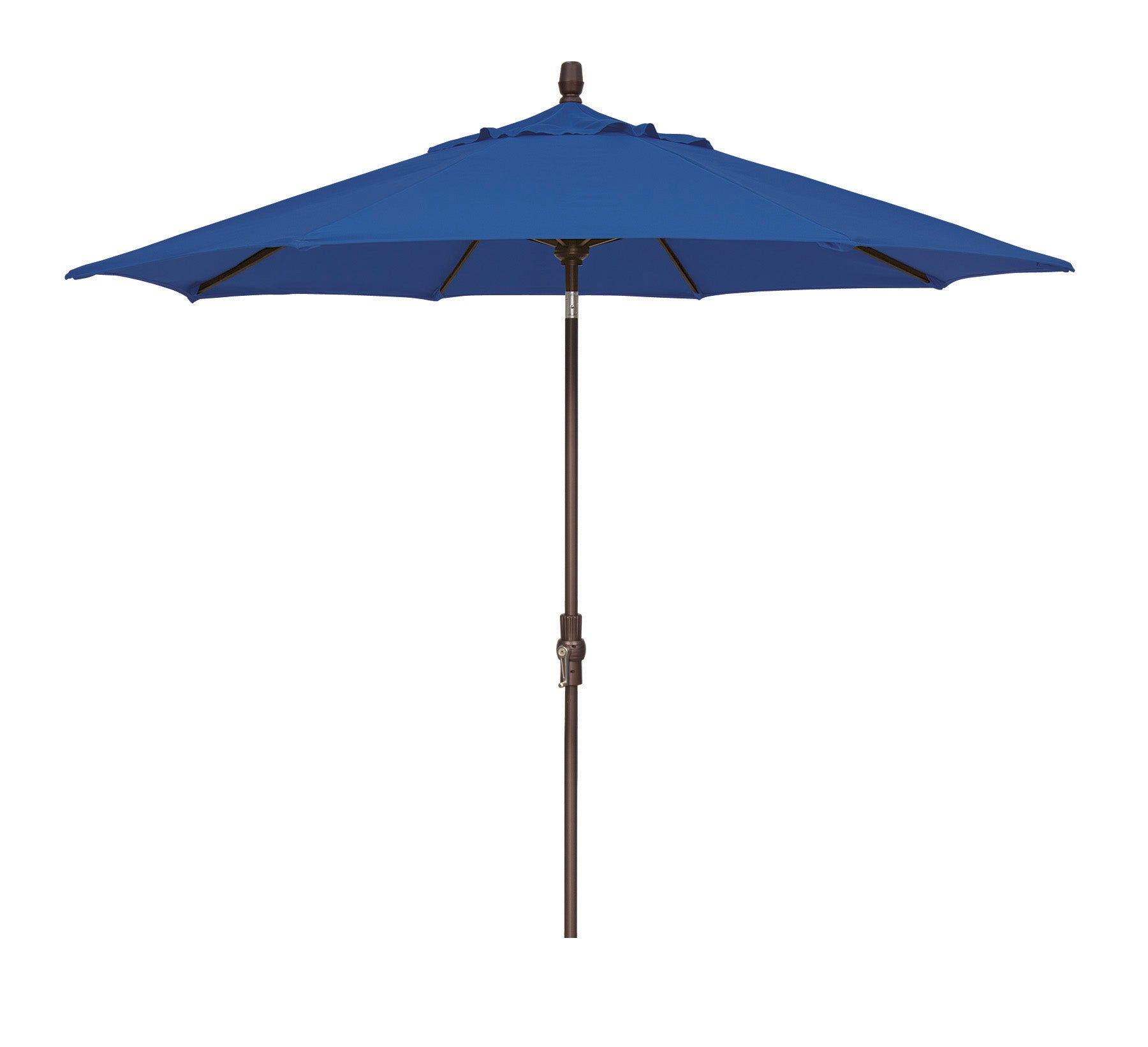 9 FT Deluxe Collar Tilt Market Umbrella <br> Bronze Aluminum Frame <br> Assorted Color Options