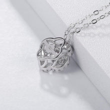Load image into Gallery viewer, Sterling Silver Clover Moissanite Pendant Necklace
