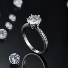 Load image into Gallery viewer, The Exquisite Moissanite Engagement Ring