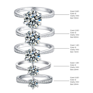The Exquisite Moissanite Engagement Ring