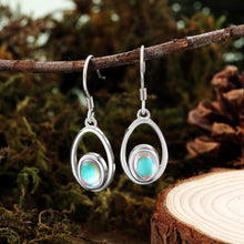 Load image into Gallery viewer, Sterling Silver Moonstone Drop Earrings