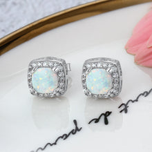 Load image into Gallery viewer, Sterling Silver Opal Stud Earrings