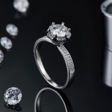 Load image into Gallery viewer, The Royal Moissanite Engagement Ring