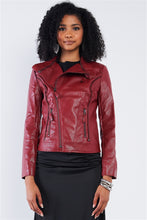 Load image into Gallery viewer, Classic Vegan Leather Biker Jacket