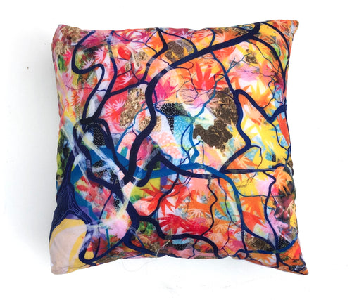 'Wishing Tree' Cushion - Unique, handmade artworks by Leda Daniel Art Studio