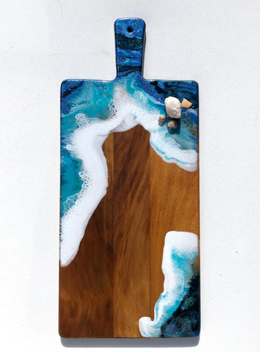 'Oneroa Beach' - Unique, handmade artworks by Leda Daniel Art Studio