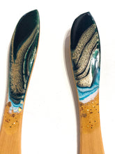 Load image into Gallery viewer, 'Orewa Beach' Serving Spoons - Unique, handmade artworks by Leda Daniel Art Studio