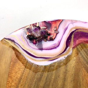 'Champagne Pool'_ Serving platter - Unique, handmade artworks by Leda Daniel Art Studio