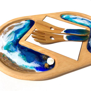 'Sandfly Bay' - Cheeseboard - Unique, handmade artworks by Leda Daniel Art Studio