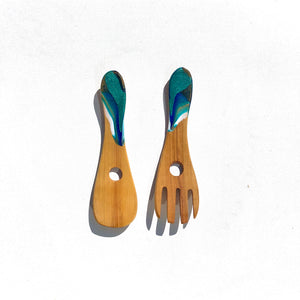 'Torrent Bay'- Serving Spoons - Unique, handmade artworks by Leda Daniel Art Studio