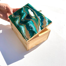 Load image into Gallery viewer, 'Emerald' -Treasure Box - Unique, handmade artworks by Leda Daniel Art Studio