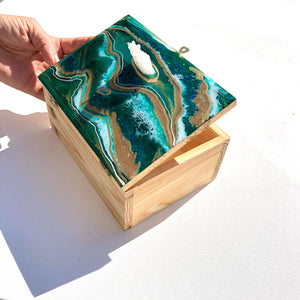 'Emerald' -Treasure Box - Unique, handmade artworks by Leda Daniel Art Studio