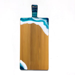 'Ohope Beach' - Cheeseboard - Unique, handmade artworks by Leda Daniel Art Studio