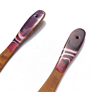 'Waiotapu'- Serving Spoons - Unique, handmade artworks by Leda Daniel Art Studio