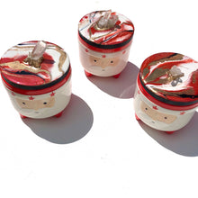 Load image into Gallery viewer, 'Little Santa' - Jars - Unique, handmade artworks by Leda Daniel Art Studio