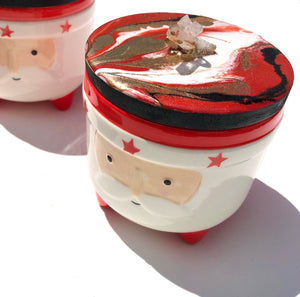 'Little Santa' - Jars - Unique, handmade artworks by Leda Daniel Art Studio