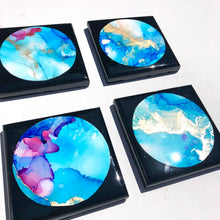 Load image into Gallery viewer, 'Pacific stars' - Coasters - Unique, handmade artworks by Leda Daniel Art Studio