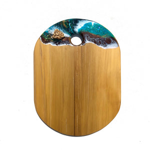 Rangitoto- Cheeseboard - Unique, handmade artworks by Leda Daniel Art Studio