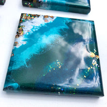 Load image into Gallery viewer, 'Muriwai Beach'- Coasters - Unique, handmade artworks by Leda Daniel Art Studio