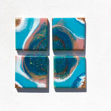 Load image into Gallery viewer, 'Mt Maunganui' - Wooden coasters - Leda Daniel Art Studio