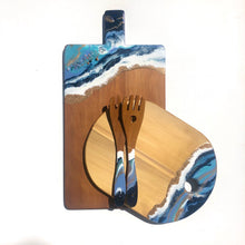 Load image into Gallery viewer, 'Coopers Beach' - Serving Spoons - Unique, handmade artworks by Leda Daniel Art Studio