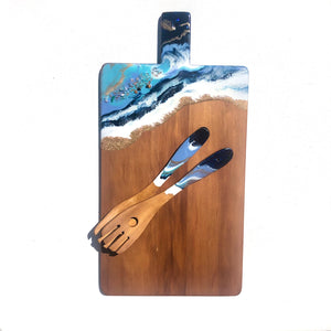 'Coopers Beach' - Serving Spoons - Unique, handmade artworks by Leda Daniel Art Studio