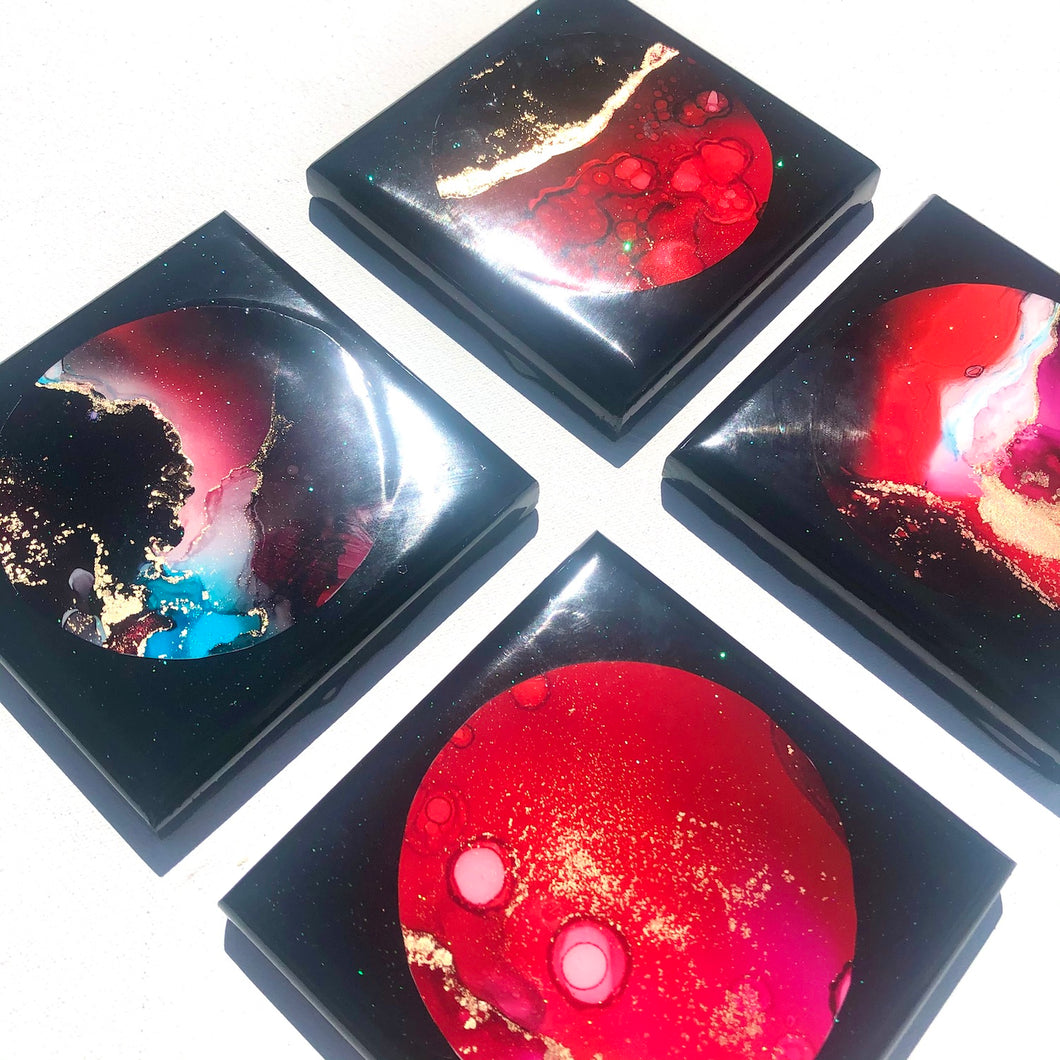 'Rakiura National Park' - Coasters - Leda Daniel Art Studio