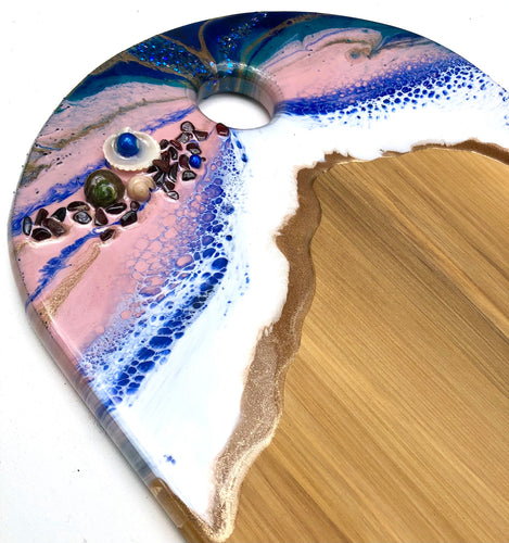 'Cape Reinga' - Cheeseboard - Unique, handmade artworks by Leda Daniel Art Studio