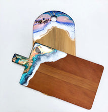 Load image into Gallery viewer, 'Cape Reinga' - Cheeseboard - Unique, handmade artworks by Leda Daniel Art Studio