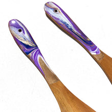 Load image into Gallery viewer, 'Taranaki' - Salad Servers - Unique, handmade artworks by Leda Daniel Art Studio