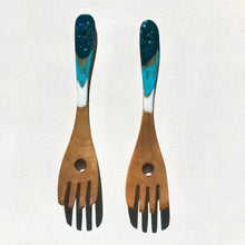 Load image into Gallery viewer, 'Hot Water Beach'- Salad Servers - Unique, handmade artworks by Leda Daniel Art Studio