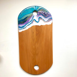 'Sandy Bay' - Cheeseboard - Unique, handmade artworks by Leda Daniel Art Studio