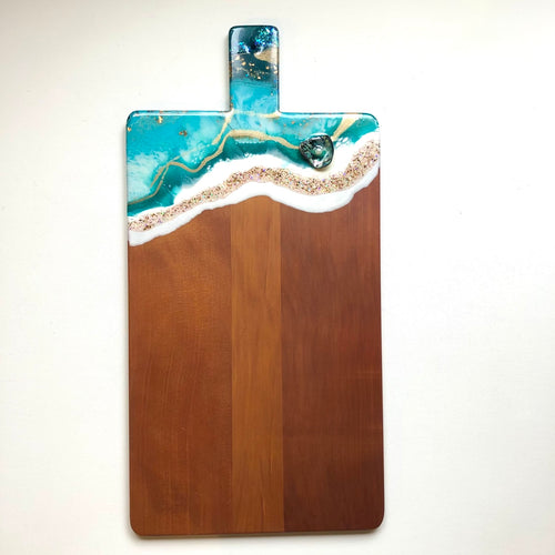 'Opua' - Cheeseboard - Unique, handmade artworks by Leda Daniel Art Studio