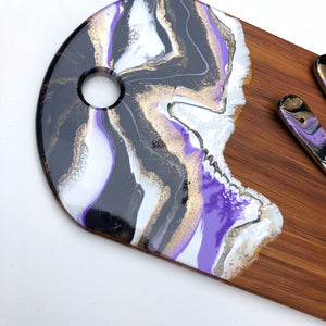 'Kai Iwi Lakes' - Cheeseboard - Unique, handmade artworks by Leda Daniel Art Studio