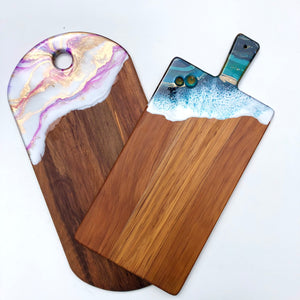 'Mission Bay Beach' - Cheeseboard - Leda Daniel Art Studio