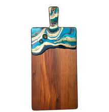Load image into Gallery viewer, 'Taipa Beach' - Cheeseboard - Unique, handmade artworks by Leda Daniel Art Studio