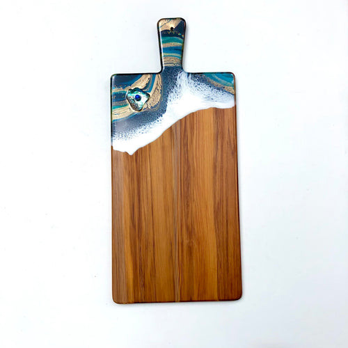 'Opononi' - Cheeseboard - Unique, handmade artworks by Leda Daniel Art Studio