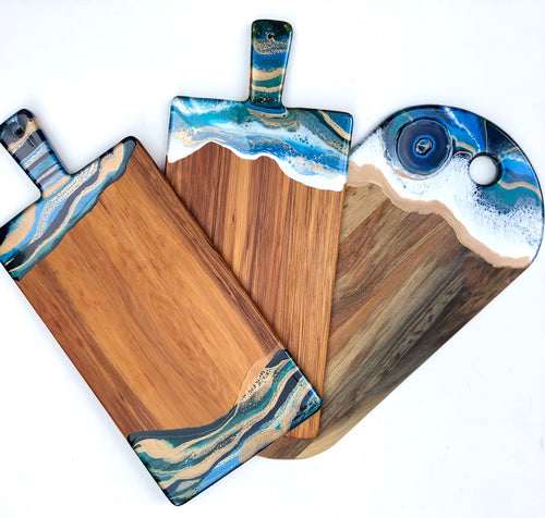 'Hokianga' - Cheeseboard - Unique, handmade artworks by Leda Daniel Art Studio