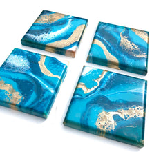 Load image into Gallery viewer, 'Polynesia'- Coasters - Leda Daniel Art Studio
