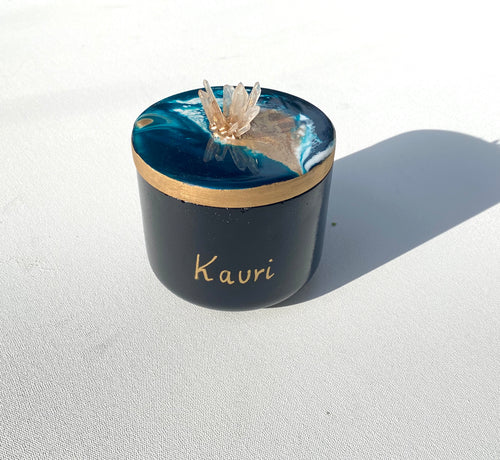 'Kauri' Candle + Jar - Unique, handmade artworks by Leda Daniel Art Studio