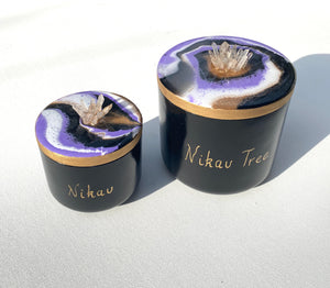 'Nikau' Candle + Jar - Unique, handmade artworks by Leda Daniel Art Studio