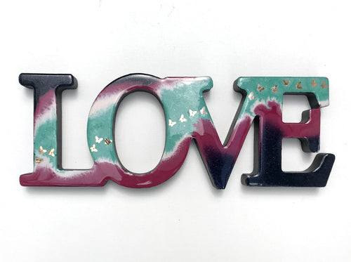 'All I Need Is Love' - Unique, handmade artworks by Leda Daniel Art Studio