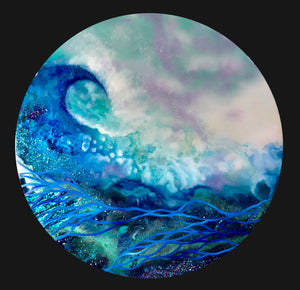 "'The Wave"" - Unique, handmade artworks by Leda Daniel Art Studio"
