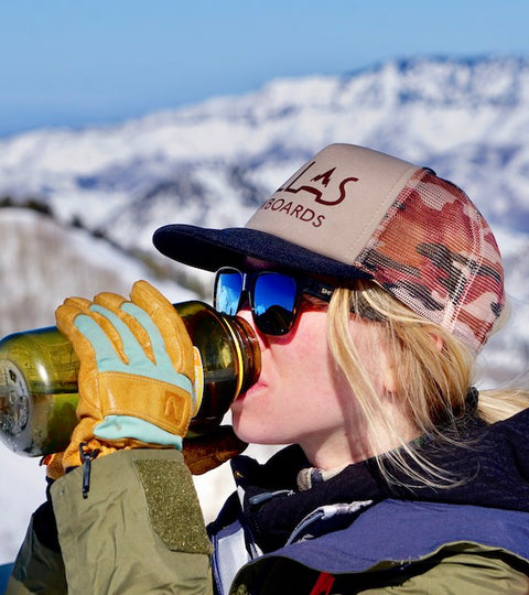 Pallas Snowboards - Staying hydrated while splitboarding is critical