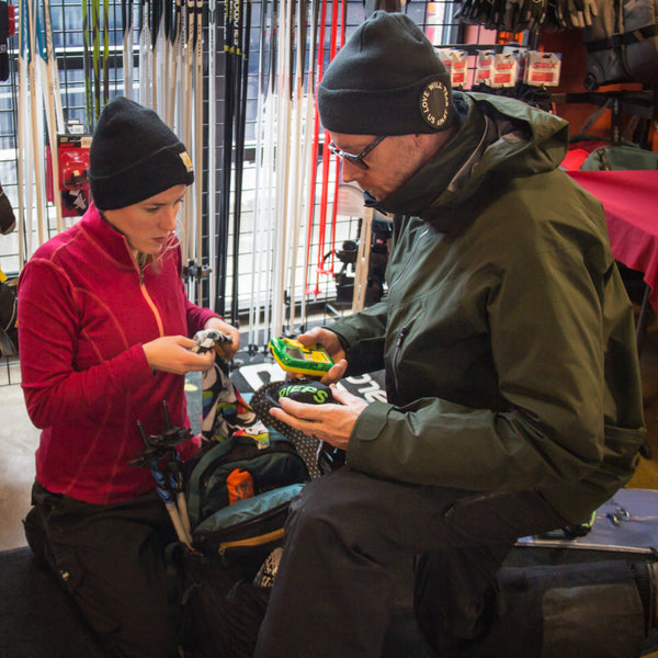 Practice with your avalanche tools and splitboard gear before heading into the mountains