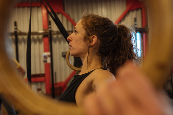 Hitting the gym for early season training with Pallas Snowboards athlete Erin Storck